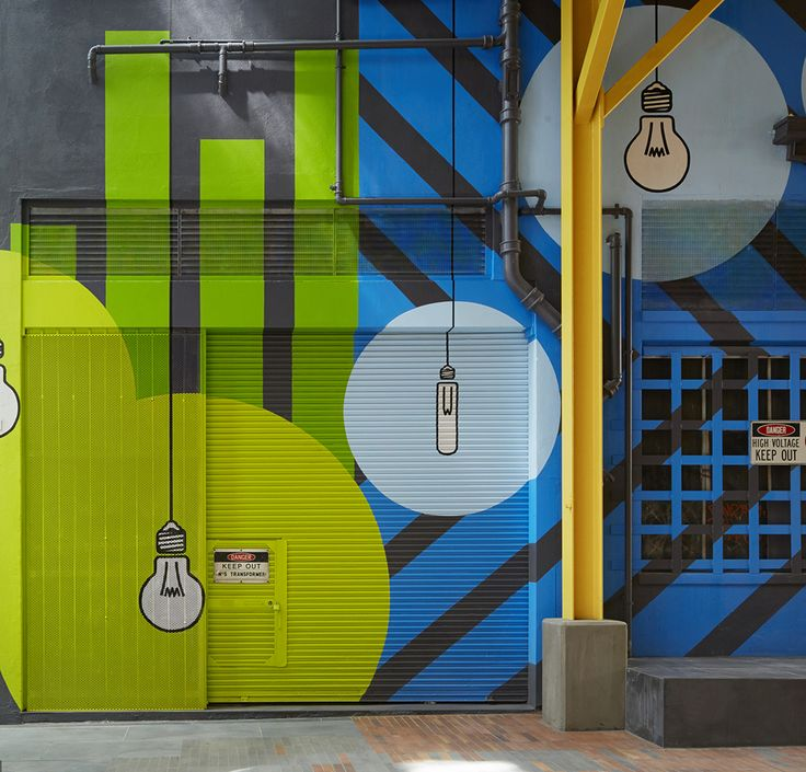 """Old Power Station Gets New Graphics at Melbourne's """"Upper West Side"""" — KNSTRCT - Carefully Curated Design News"""