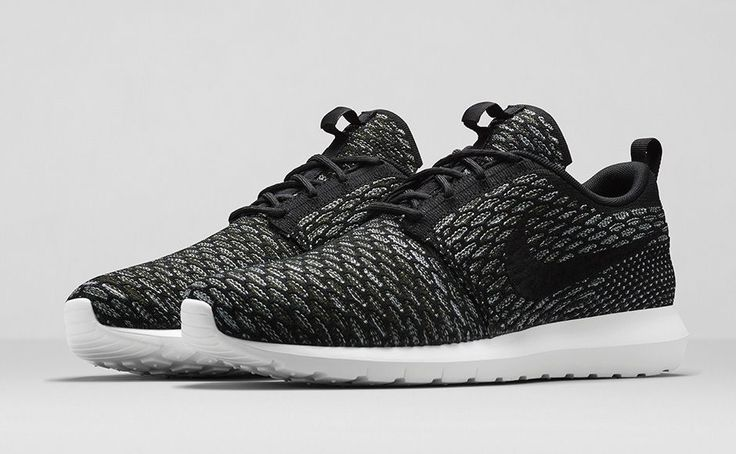 outlet store e53d7 73dbb ... new arrivals nike flyknit roshe run black sequoia. 9add7 ddd3d