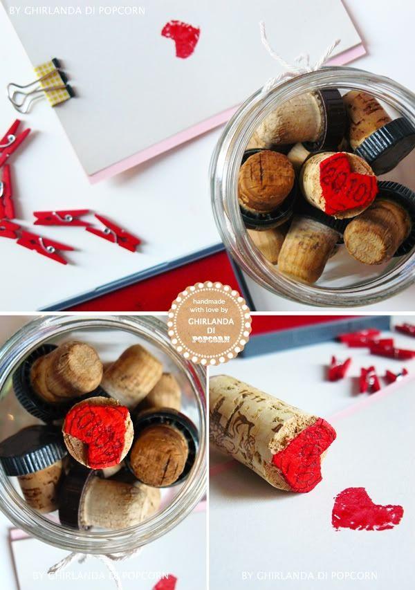 Ghirlanda di Popcorn   progetti creativi: progetti per Natale #4 : timbri fatti a mano