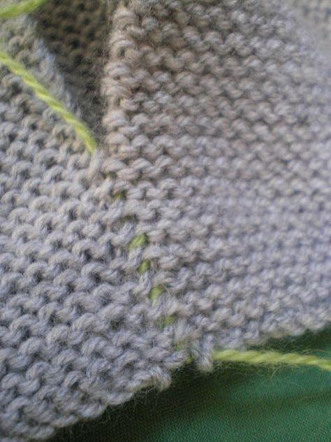 tricot facile gros plans sur les coutures tutoriels pinterest layette knit crochet and. Black Bedroom Furniture Sets. Home Design Ideas
