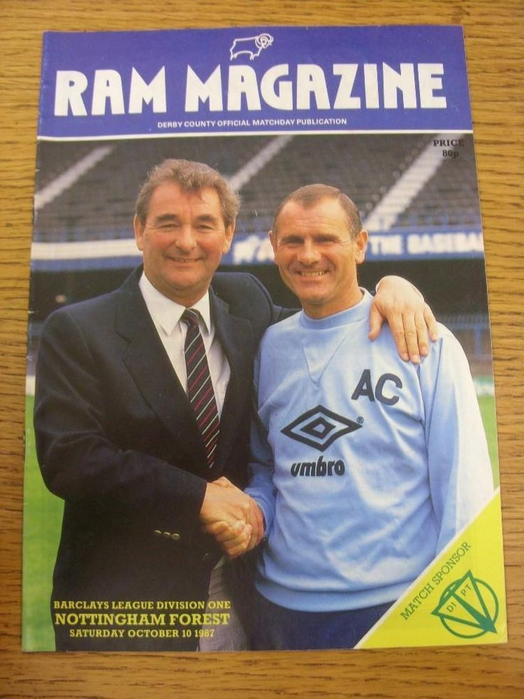 10/10/1987 Derby County v Nottingham Forest  (Light Crease)    eBay