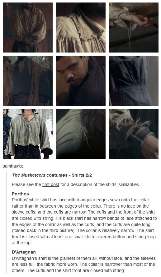 The Musketeers; Costumes, Shirts (2/2)