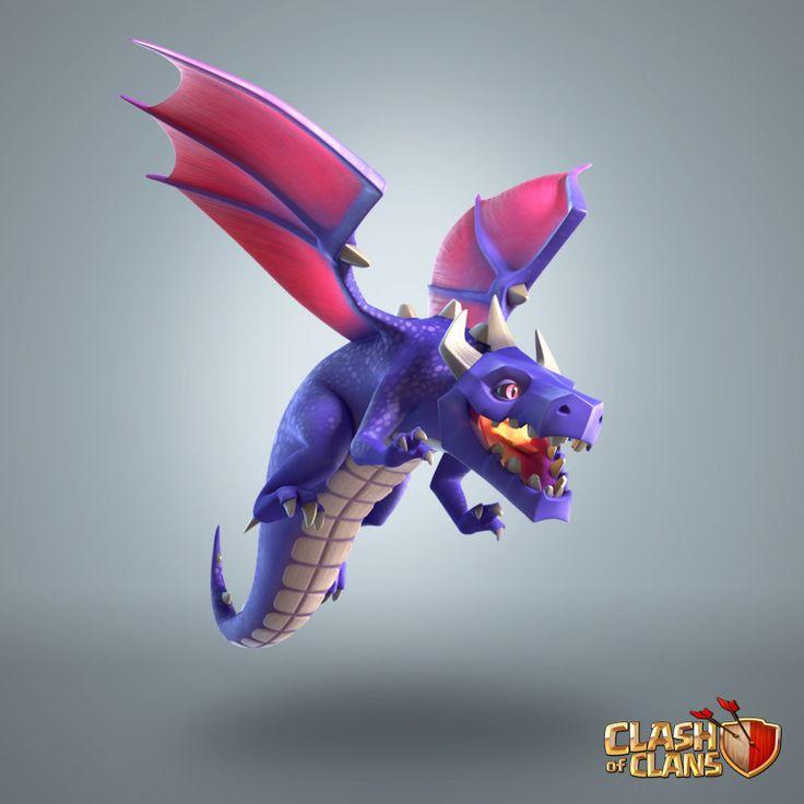 ArtStation - Dragon - Clash of Clans, Supercell Art