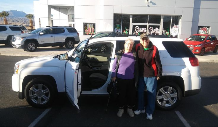 """Clyde and Leona, wishing you many """"Miles of Smiles"""" in your 2014 GMC TERRAIN!  All the best, Findlay Chevy Buick GMC and MICHAEL WILLIAMS."""