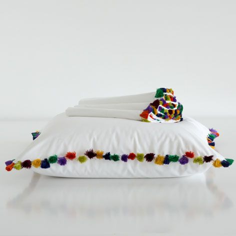 POMPOM EGYPTIAN PERCALE BED LINEN - Bedroom - Special Prices | Zara Home Romania