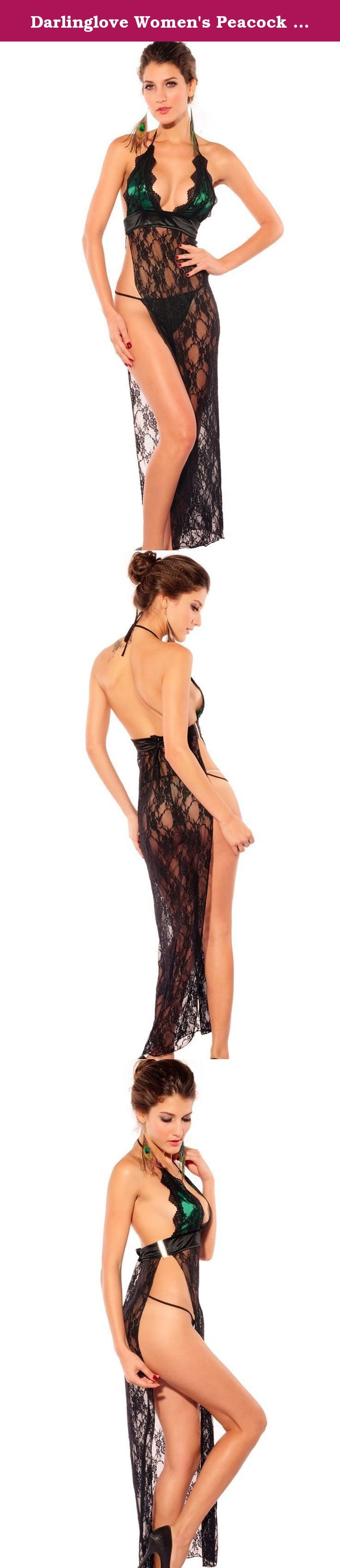 Darlinglove Women's Peacock Color Midnight Lace Sheer Wedding Lingerie Gowns. About DarlingLove DarlingLove committed to providing women with sexy Halloween costume, jumpsuit, lingerie etc nearly 20 years. We creates comfortable, very cool and attractive products through constant innovation. We have more than 200 employees in concentrate on making the world's lingerie for you. Without leaving your home, you could purchase lingerie with premium quality at wholesale prices. Details Midnight...