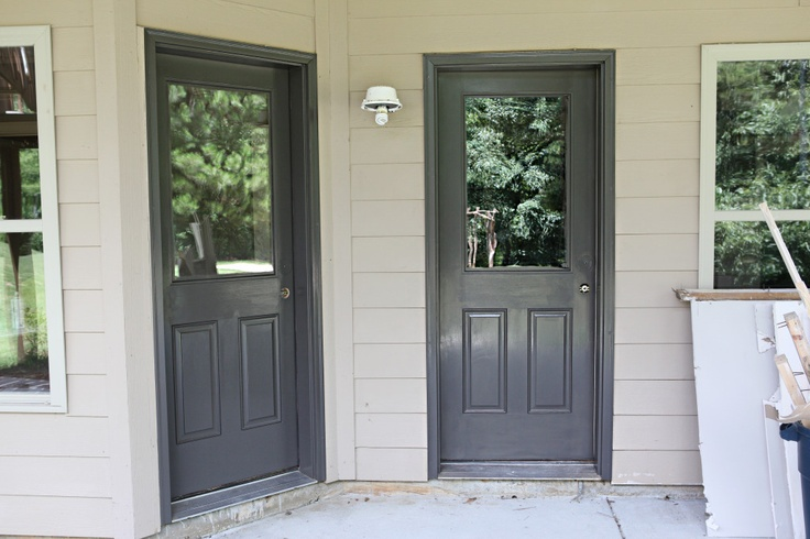 101 best front door paint colors images on pinterest for Back door with window and screen