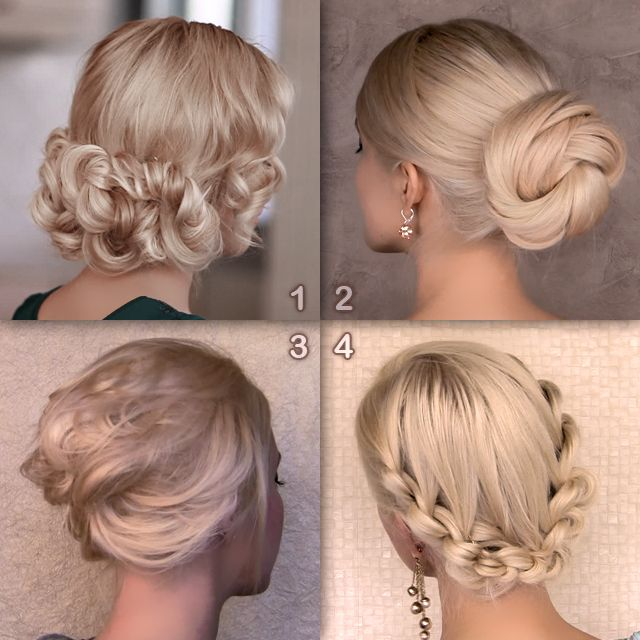 Elegant updo hairstyles from my recent hair tutorials. Watch them on http://www.youtube.com/user/lilithedarkmoon/videos