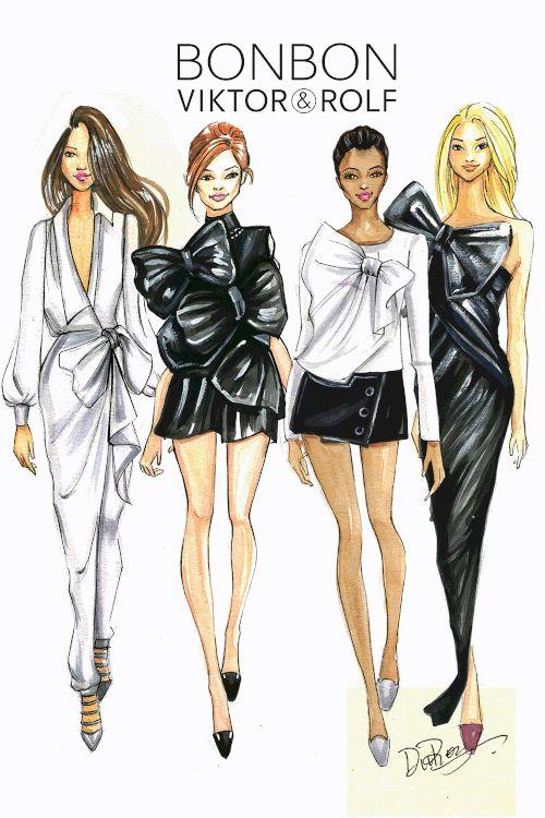 Fashion-Illustration-for-Viktor&Rolf--by-Fashion-Illustrator-Rongrong-DeVoe. More fashion art at www.rongrongdevoe.com