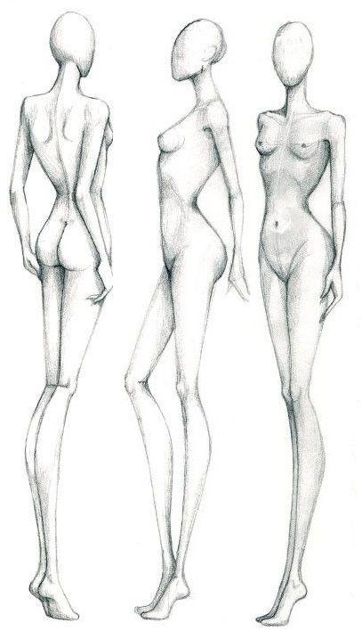 Croqui feminino lado