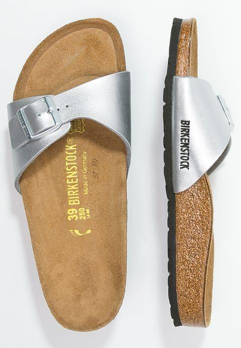 Schick und bequem zugleich! Birkenstock MADRID - Pantolette flach - silver für 49,95 € (05.02.17) versandkostenfrei bei Zalando bestellen.