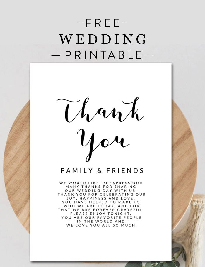 Free Wedding Cards Thank You Instant Download Printable Printable Market Wedding Place Card Templates Wedding Thank You Cards Thank You Card Template