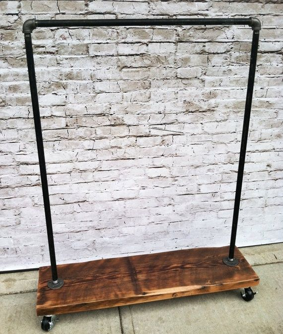 Heavy Duty Industrial Garment Rack | DIY | Pinterest
