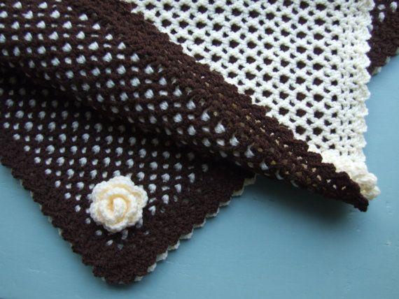 Crochet Blanket Pattern PDF (Reversible Honeycomb). £2.10, via Etsy.