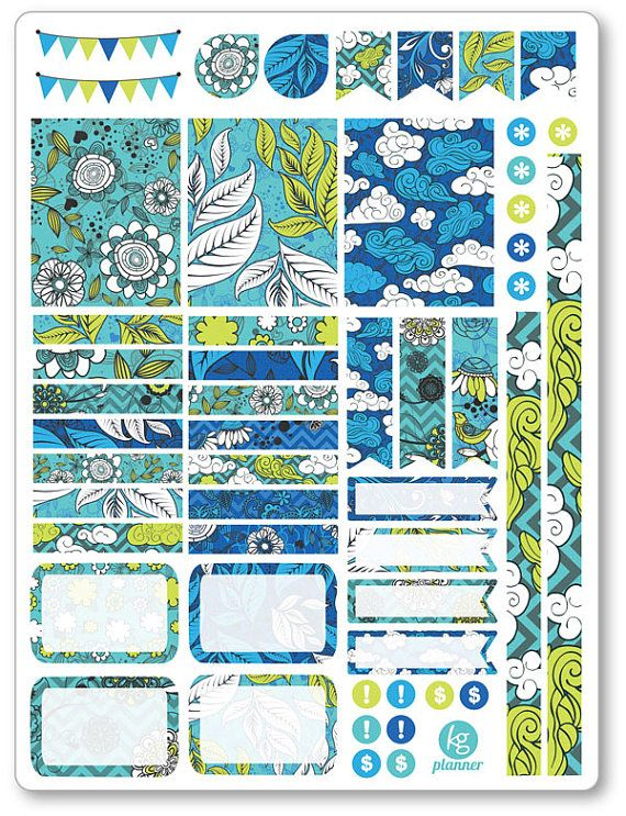 Cielo azul decoración Kit / extensión semanal por PlannerPenny