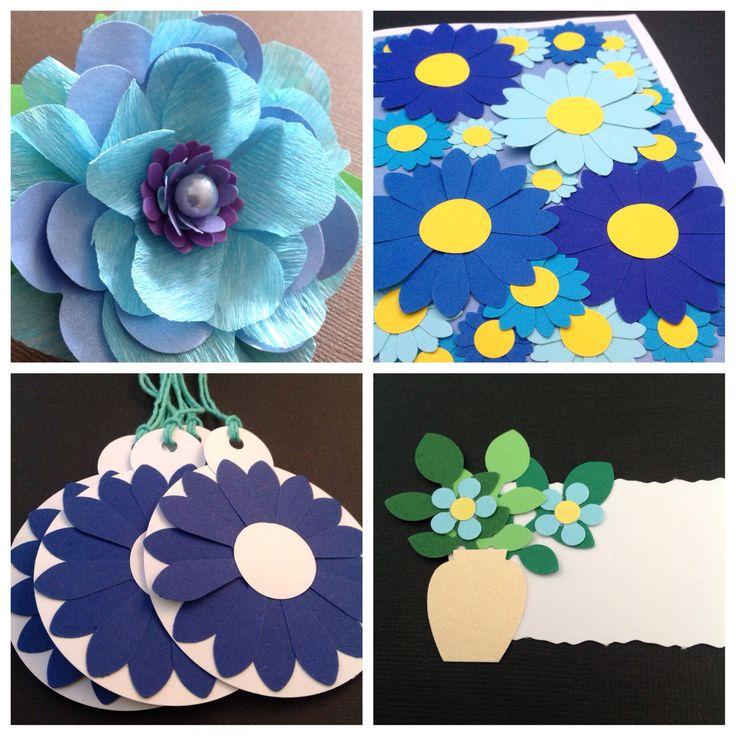 Blåt er godt! Blomster, kort, gavetags og bordkort i skønne blå farver - www.jannielehmann.dk