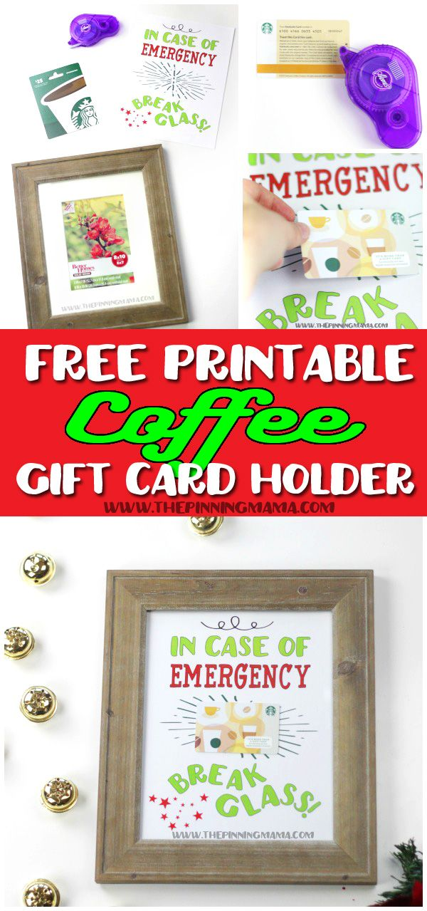 A super fun and creative way to give a gift card to any coffee lover! Just print the free printable, attach the gift card and put into a frame.  You can do it with any gift card from @gcmall!  Ice cream, your college student's favorite restaurant, the hardware store for my husband, or even Target for me!  #GiftCardMall {ad}