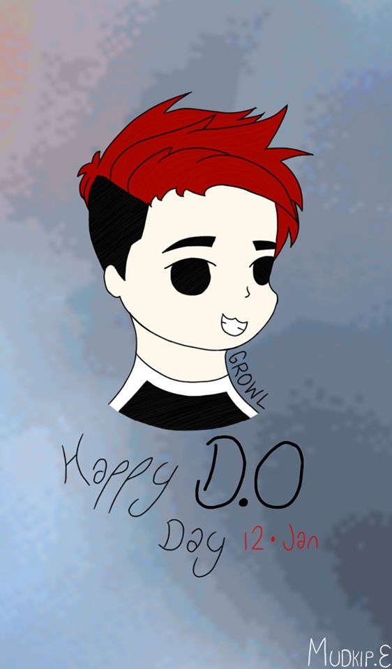 Happy D.O Day │ Art by ME, Mudkip Evolution