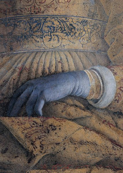 Andrea Mantegna - Decoration of the Camera degli Sposi (Barbara of Brandenburg - detail), 1465 - 1474 Palazzo Ducale, Mantua