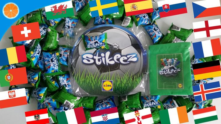 Lidl Stikeez Cup Euro 2016 Football Collection | Learn colors and countr...