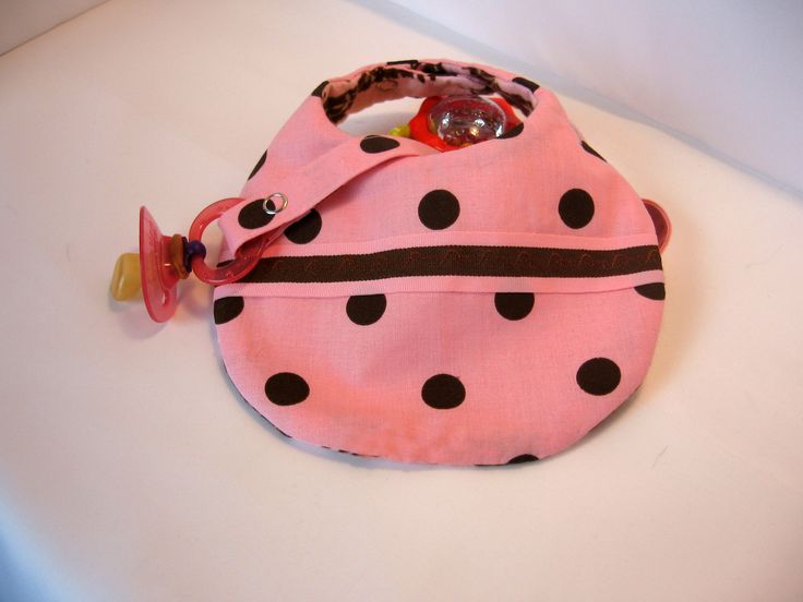 Bib with pacifier holder | Baby Shower Gifts | Pinterest ...
