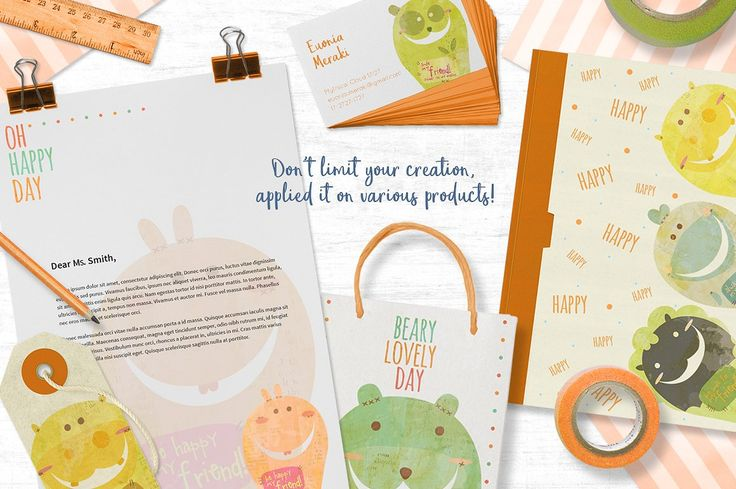 The Book Biters + bonus cards by Euonia Meraki on @creativemarket  Apllied it on many products, don't limit your creations :D :D