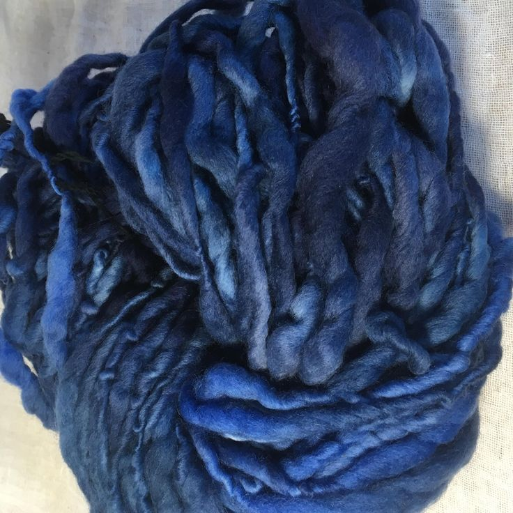 Blues Merino Chunky Yarn by hawthornecottage on Etsy