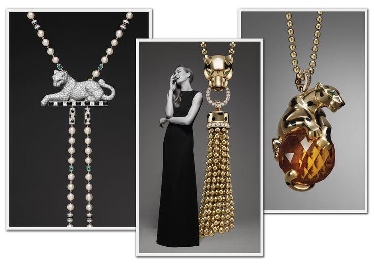 Campanha  da coleção que celebra o centário da Panthère Collection, feitas de ouro amarelo, branco e rosa enfeitadas com ônix, esmalte, diamantes e esmeraldas. Preço sob consulta (Foto: Divulgação)