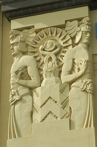 Art Deco building detail -...