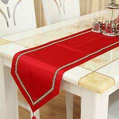 Caminos de mesa clásicos rojos - CAD $ 37.52