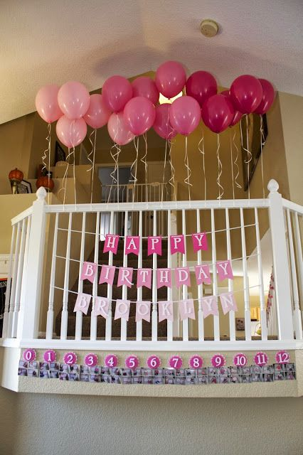 Pink Ombre Birthday Decorations  First Birthday www.themilehighmom.com Do these outside house