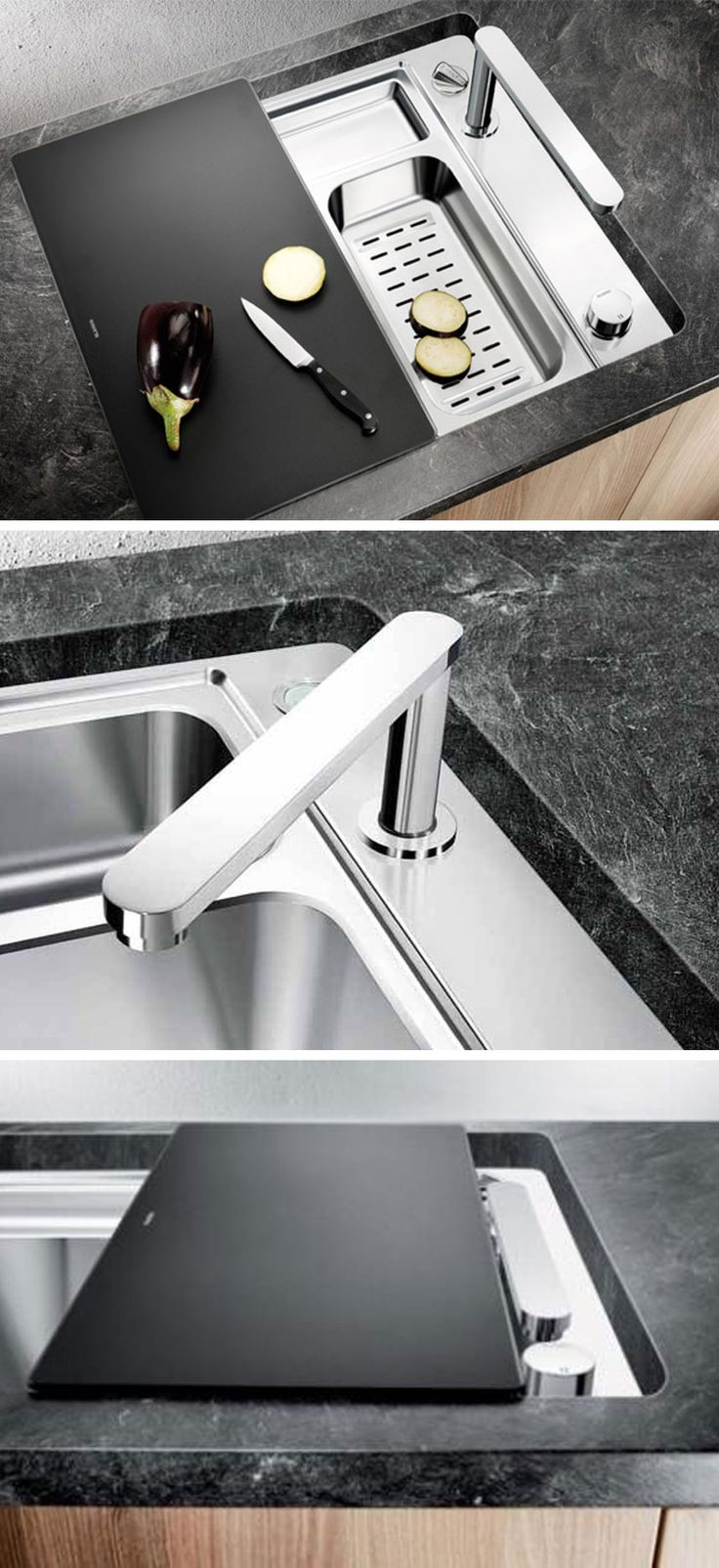 Blanco zerox 700 u stainless steel undermount sink - The Blanco Eloscope Retractable And Concealable Tap Great For Small Kitchens And Bars Sadly