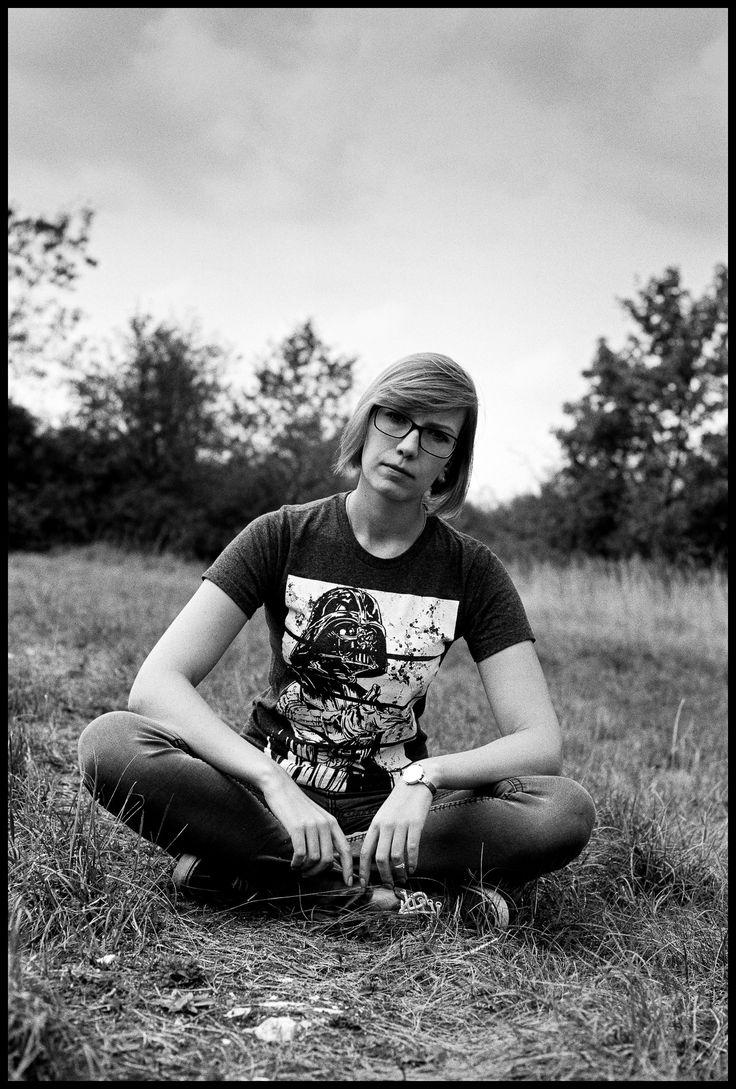 https://flic.kr/p/DEpL7b | 20150926_3_MFL-11_Leica_M6_50mm_Summicron | LEICA M6 Classic                                      LEICA SUMMICRON-M 1:2/50 MM  Fujifilm Acros 100 Development & Scan: meinfilmlab.de   #LeicaM6 #Summicron50 #FujifilmAcros100 #BW #blackandwhite #monochrom #girl #model #female #women #portrait #fashion #jeans #glass #sitting #StarWars #DarthVader