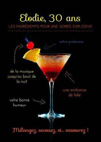 Carte invitation cocktail