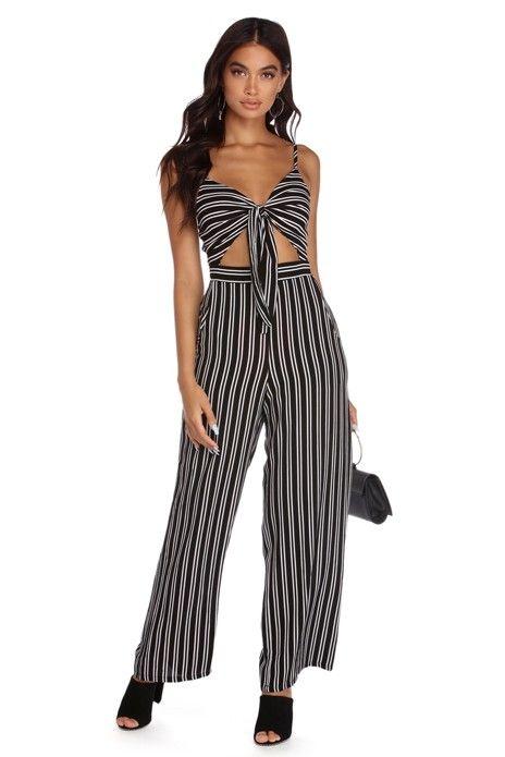 6fe76a9c27f FINAL SALE- Tie Me Down Stripe Jumpsuit