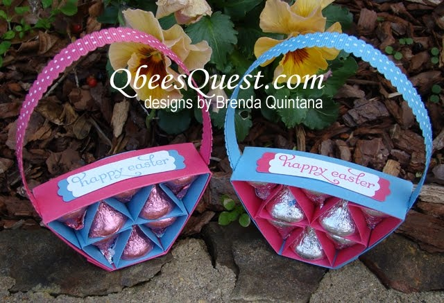 Hershey's Easter Basket Tutorial | Hershey's Kisses, Delightful Dozen, Simply Scored, Stampin' Up