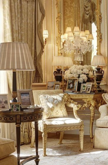 Opulent French Living Room Of Ivory And Gold . Custom Draperies Available  Design Nashville. Find This Pin And More On Light It Up ...