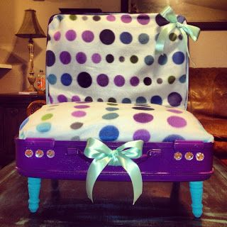 Haute Diggity Dog: Puple and Teal Suitcase Dog Bed
