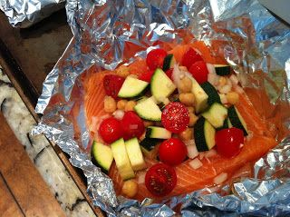 FitLife with Nicole: Mediterranean Salmon Baked in Foil