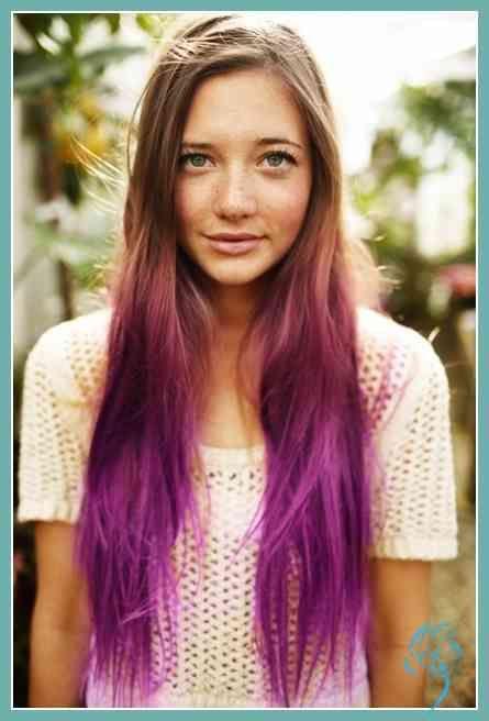 Ombre langes glattes Haar für Mädchen: Einfache Frisuren | Trend Bob … | Damen Frisuren