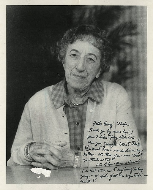 Margaret Hamilton, a.k.a The Wicked Witch of the West  Wow look at the kindness in her eyes.