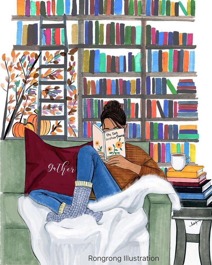 фон картинки с рисованием и чтением когда