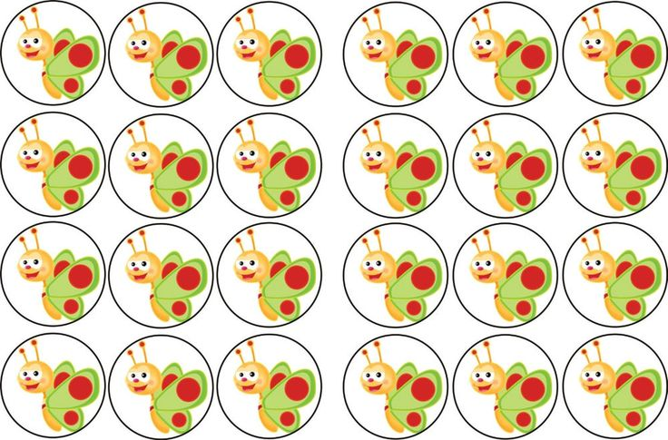 BABY TV BUTTERFLY RICE PAPER BUN TOPPERS X 24 in Crafts, Cake Decorating | eBay