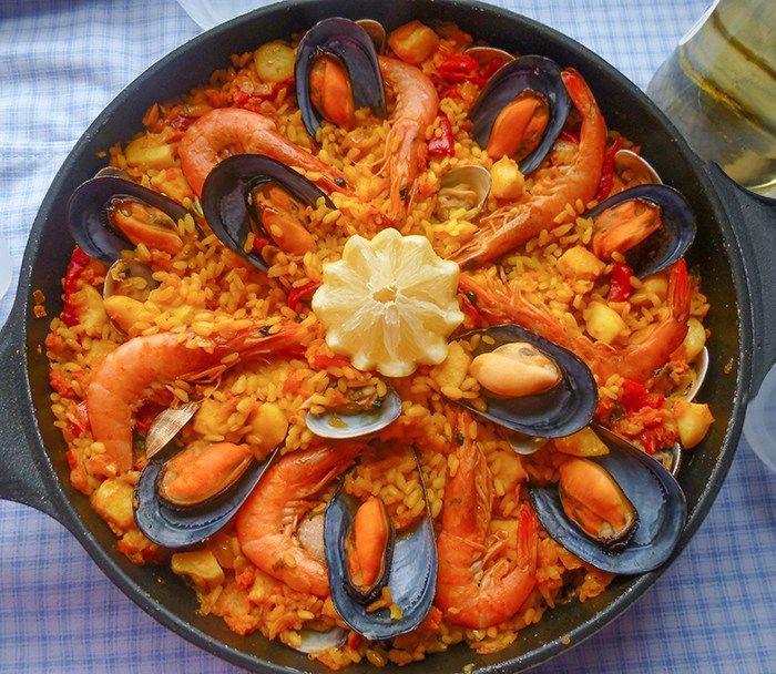 Paella De Marisco Receta Paso A Paso Paella De Mariscos Mariscos Recetas Como Hacer Paella