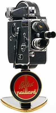 Paillard-Bolex H8, c. 1938, 8mm camera with original Dealer display stand