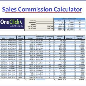 Sales Commission Calculator Template Excel   Calculator ...