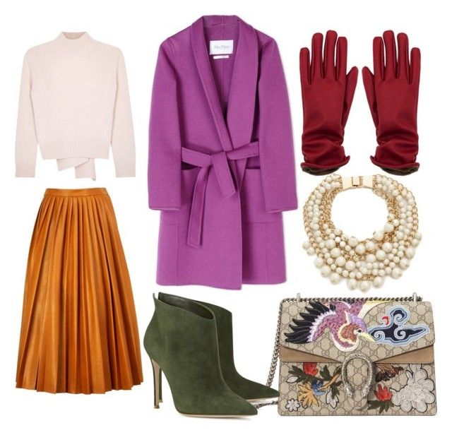 Без названия #14 by zuxrav on Polyvore featuring polyvore, moda, style, Alexander McQueen, MaxMara, By Malene Birger, Gianvito Rossi, Gucci, Kate Spade, fashion and clothing