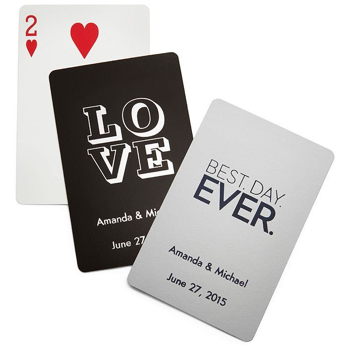 Personalized Deck of Playing Cards favors