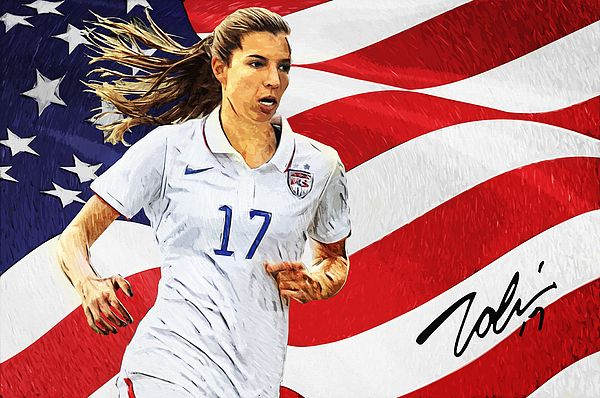 Tobin heath, Alex Morgan, portrait, illustration, american soccer player, olympic gold medalist, us flag, midfielder, portland thorns fc, national women's soccer league, nwsl, woman, football, united states, women's, national soccer team, paris saint-german, new York fury, Pali blues, sky blue fc, west coast fc, Atlanta beat, new jersey wildcats, signature, sports, cool, decorative, home decoration, living room, bedroom, office, striker, Fifa, female athlete