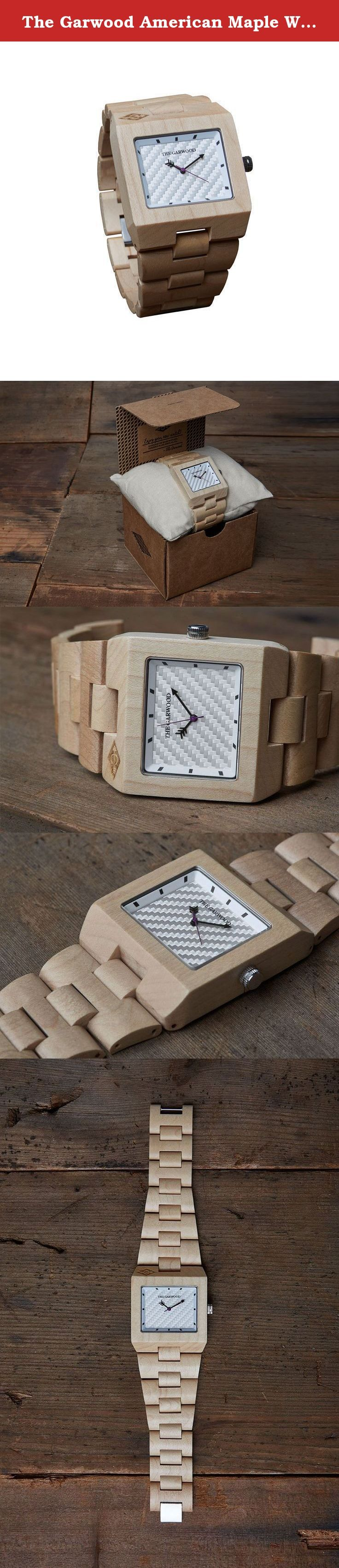 "The Garwood American Maple Wood Watch - ""Angeleno"" - Square - Analog - 12-Month Warranty. We created the ""Angeleno"" to pay tribute to Los Angeles, the city where The Garwood lives and where the watches are designed. We wanted to make it bright and light to reflect the always sunny, City of Angels. With its light American maple wood and white copper face, the ""Angeleno"" is sure to shine wherever you go."